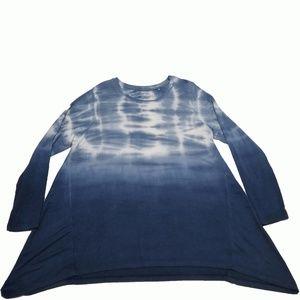 Style Co Tie-Dyed Handkerchief-Hem Top Industrial